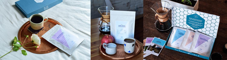 Blue Coffee Box Banner